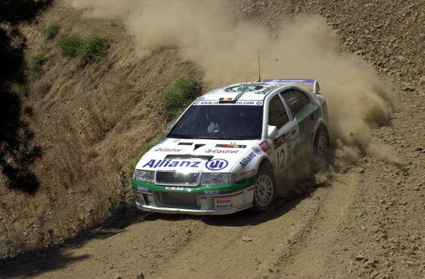 2001 World Rally ChampionshipCyprus Rally, June 1-3, 2001Bruno Thiry on Stage 8Photo: Ralph Hardwick/LAT