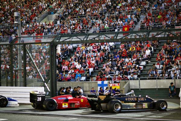 Suzuka Circuit, Suzuka, Japan.  Saturday 26 September 2015. Classic Ferrari and Lotus F1 cars, part of a demo of historic machines. World Copyright: Alastair Staley/LAT Photographic ref: Digital Image _R6T1708
