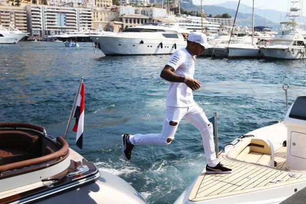 Monte Carlo, Monaco. Sunday 28 May 2017. Lewis Hamilton, Mercedes AMG.  World Copyright: Zak Mauger/LAT Images ref: Digital Image DJ5R1251