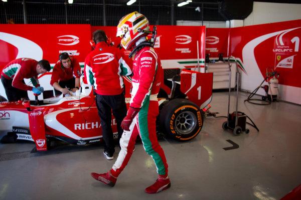 Circuit de Barcelona Catalunya, Barcelona, Spain. Monday 13 March 2017. Charles Leclerc (MON, PREMA Racing).  Photo: Alastair Staley/FIA Formula 2 ref: Digital Image 585A7279
