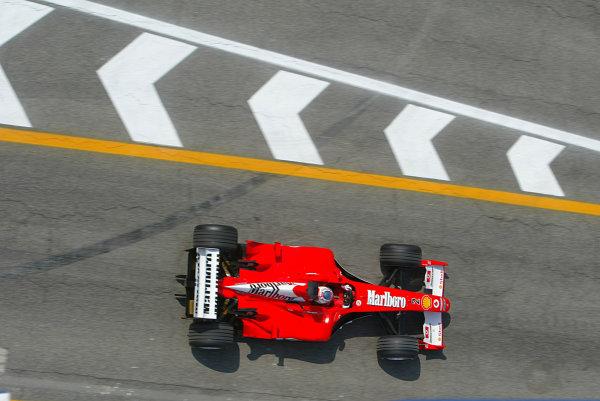 2003 San Marino Grand Prix - Friday 1st QualifyingImola, Italy. 18th April 2003Rubens Barrichello, Ferrari F2002, action.World Copyright: LAT Photographic ref: Digital Image Only