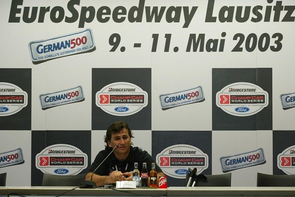 2003 ChampCar World Series.Eurospeedway Lausitz, Germany.10-11th May 2003.Alex Zanardi - Press Conference.World Copyright: Spinney/LAT Photographic.Ref.: Digital Image Only.