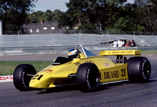 1980 Canadian Grand Prix.Montreal, Quebec, Canada.26-28 September 1980.Keke Rosberg (Fittipaldi F8 Ford) 9th position.Ref-80 CAN 32.World Copyright - LAT Photographic