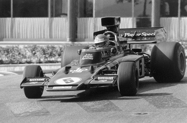 1975 Monaco Grand Prix.Monte Carlo. 11 May 1975.Ronnie Peterson (Lotus 72E-Ford Cosworth), 4th position. Ref-7444 #34A.World Copyright - LAT Photographic