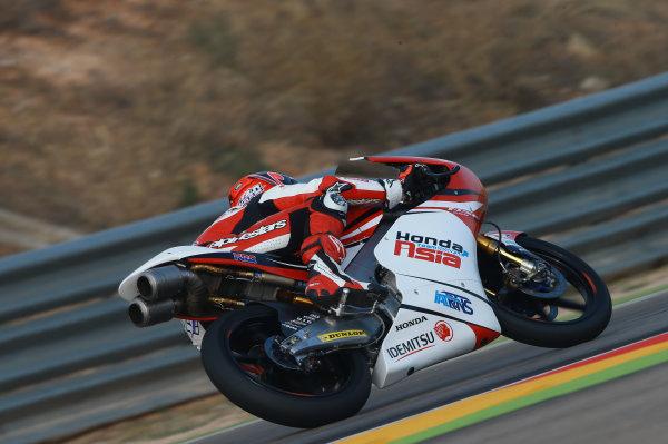 2017 Moto3 Championship - Round 14 Aragon, Spain. Saturday 23 September 2017 Kaito Toba, Honda Team Asia World Copyright: Gold and Goose / LAT Images ref: Digital Image 14001