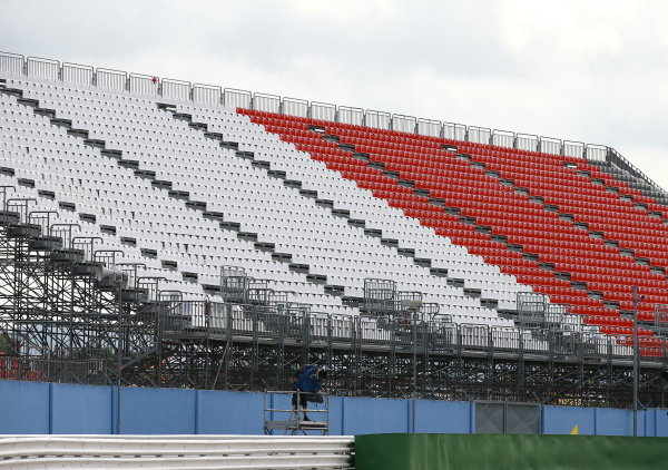 2017 MotoGP Championship - Round 13 Misano, Italy. Thursday 7 September 2017 Empty Grandstands World Copyright: Gold and Goose / LAT Images ref: Digital Image 7124