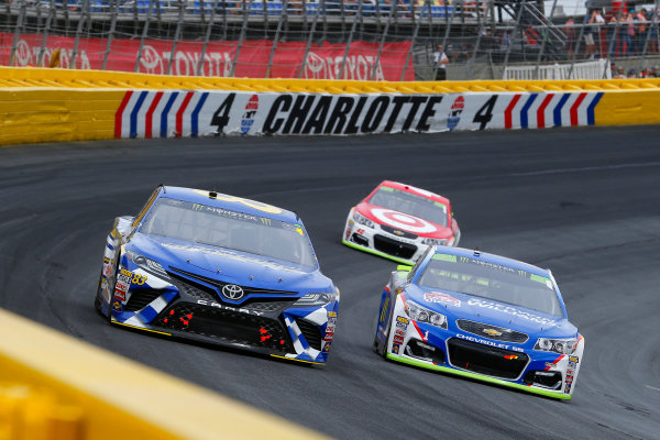 Monster Energy NASCAR Cup Series Bank of America 500 Charlotte Motor Speedway, Concord, NC Sunday 8 October 2017 Brett Moffitt, BK Racing, Champion Machinery Toyota Camry and Jamie McMurray, Chip Ganassi Racing, Sherwin-Williams Chevrolet SS World Copyright: Russell LaBounty LAT Images