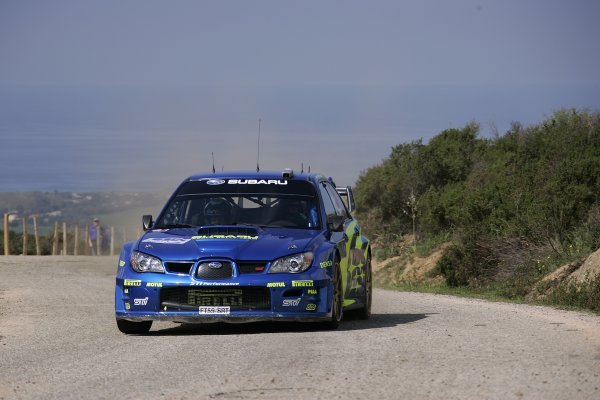 FIA World Rally Championship 2006Round 5Rally of France, Tour de Corse7th - 9th April 2006Petter Solberg, Subaru, action.World Copyright: LAT/McKlein