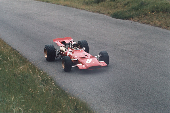 Zandvoort, Holland.19-21 June 1969.Chris Amon (Ferrari 312) 3rd position.Ref-35mm 69 HOL 22.World Copyright - LAT Photographic