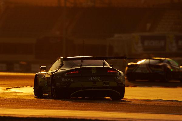 2017 FIA World Endurance Championship, Bahrain International Circuit, Bahrain. 16th-18th November 2017, #95 Aston Martin Racing Aston Martin Vantage: Nicki Thiim, Marco Sorensen  World Copyright. JEP/LAT Images