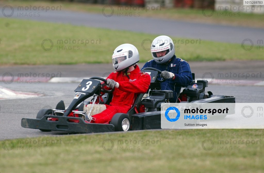 Andrew Laird (GBR) Sutton Motorsport Images grimly holds on to his eighth position from a hard charging Mark Sutton (GBR) Sutton Motorsport Images, who finished ninth.