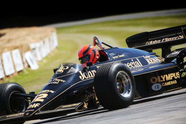 2017 Goodwood Festival of Speed. Goodwood Estate, West Sussex, England. 30th June - 2nd July 2017. Lee Mowles (GBR) Lotus Renault  World Copyright : JEP/LAT Images