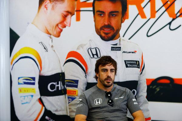 Baku City Circuit, Baku, Azerbaijan. Thursday 22 June 2017. Fernando Alonso, McLaren.  World Copyright: Steven Tee/LAT Images ref: Digital Image _R3I1238