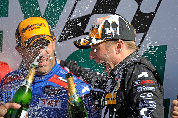 22-25 January, 2015, Daytona Beach, Florida USA Winner Jamie McMurray is sprayed with champagne. ?2015, F. Peirce Williams LAT Photo USA