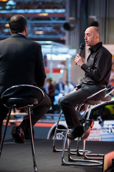 Autosport International Exhibition. National Exhibition Centre, Birmingham, UK. Thursday 8 January 2015. David Brabham on the Autosport stage. World Copyright: Zak Mauger/LAT Photographic. ref: Digital Image _L0U2548
