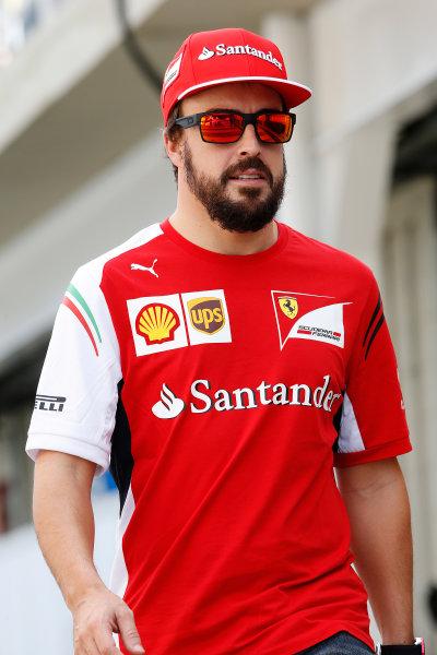 Interlagos, Sao Paulo, Brazil. Friday 7 November 2014. Fernando Alonso, Ferrari. World Copyright: Charles Coates/LAT Photographic. ref: Digital Image _J5R3104