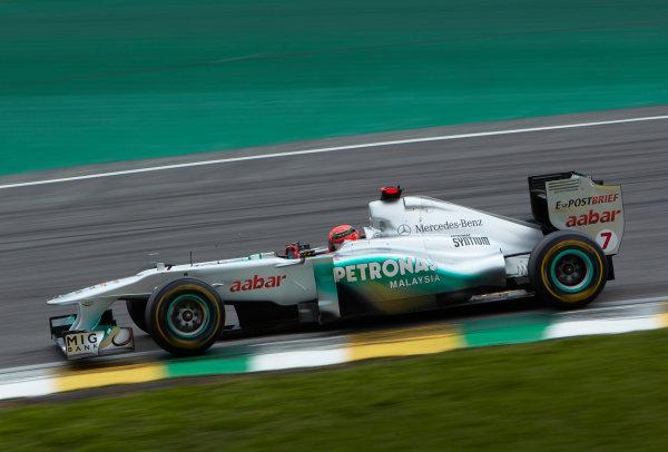 Interlagos, Sao Paulo, Brazil. 26th November 2011. Michael Schumacher, Mercedes GP W02. Action.  World Copyright: Steve Etherington/LAT Photographic ref: Digital Image SNE27383