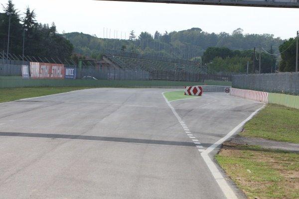Entrance to the pit lane.Imola Track Walk, Imola, San Marino, Thursday 17 September 2009.