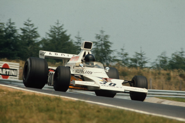1973 German Grand Prix.  Nurburgring, Germany. 3-5th August 1973.  Jacky Ickx, McLaren M23 Ford, 3rd position.  Ref: 73GER19. World Copyright: LAT Photographic