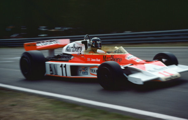 Zolder, Belgium. 14th - 16th May 1976. James Hunt (McLaren M23-Ford), retired, action. World Copyright: LAT Photographic.  Ref: 76 BEL 23.