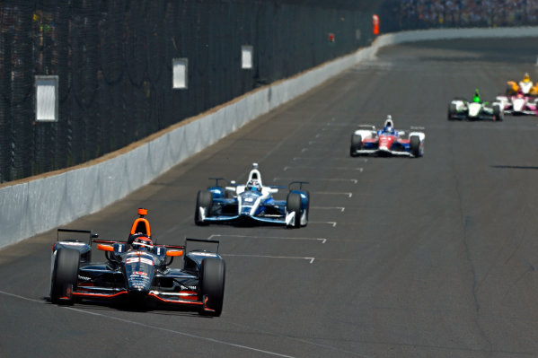 29 May, 2016, Indianapolis, Indiana, USA Alex Tagliani (#35), Max Chilton (#8) and Jack Hawksworth (#41) ?2016, F. Peirce Williams LAT Photo USA