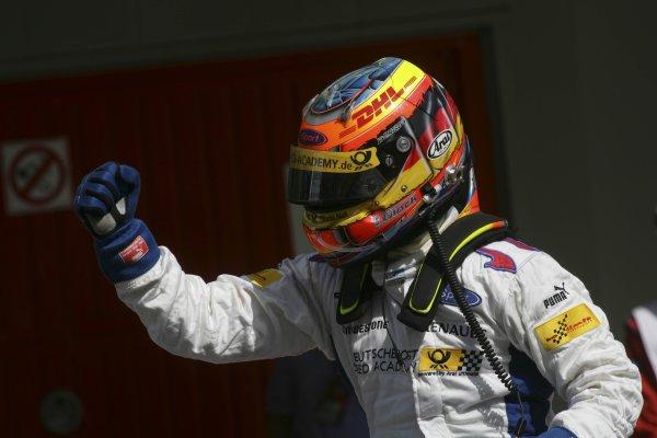 2007 GP2 Series. Round 2. Sunday RaceBarcelona, Spain. 13th May 2007. Timo Glock (GER, iSport International) celebrates victory. World Copyright: Andrew Ferraro/GP2 Series Media Sevice  ref: Digital Image ZP9O7147