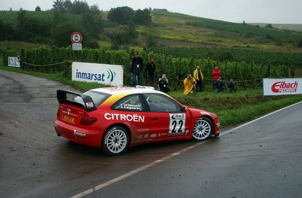 Philippe Bugalski (FRA) Citroen Xsara WRC.World Rally Championship, Rd10, Shakedown, ADAC Rallye Deutschland, Trier, Germany. 22 August 2002.DIGITAL IMAGE
