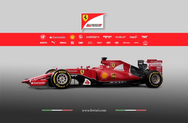 Ferrari SF-15T Reveal 30 January 2015 The new Ferrari SF-15T. Photo: Ferrari (Copyright Free FOR EDITORIAL USE ONLY) ref: Digital Image 150017eve