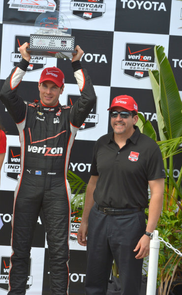 11-13 April, 2014, Long Beach, California USA #12 Will Power Verizon Team Penske, second place with Verizon Excutive ©2014, Dan R. Boyd Lat Photo USA