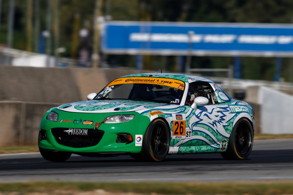 IMSA Continental Tire SportsCar Challenge Fox Factory 120 Road Atlanta, Braselton GA Thursday 5 October 2017 26, Mazda, Mazda MX-5, ST, Andrew Carbonell, Liam Dwyer World Copyright: Jake Galstad LAT Images