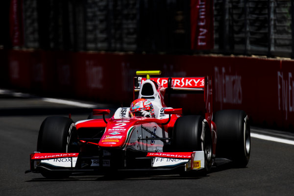 2017 FIA Formula 2 Round 4. Baku City Circuit, Baku, Azerbaijan. Friday 23 June 2017. Antonio Fuoco (ITA, PREMA Racing)  Photo: Zak Mauger/FIA Formula 2. ref: Digital Image _54I9839