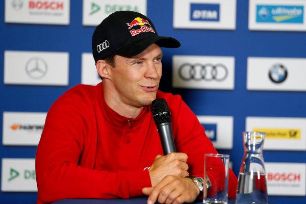 2017 DTM Round 4 Norisring, Nuremburg, Germany Friday 30 June 2017. Press Conference, Mattias Ekström, Audi Sport Team Abt Sportsline, Audi A5 DTM World Copyright: Alexander Trienitz/LAT Images ref: Digital Image 2017-DTM-R4-NOR-AT2-0054