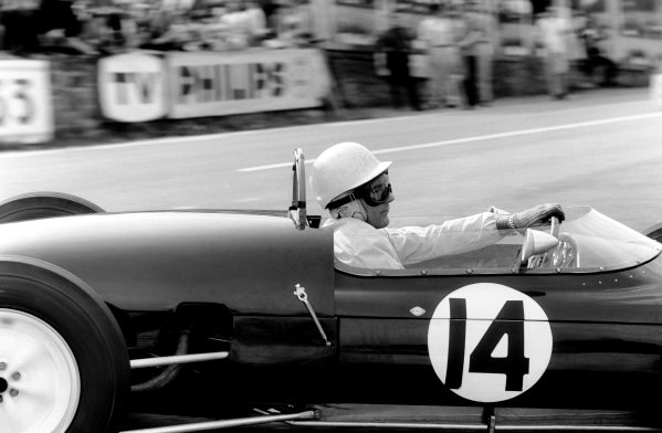 Spa-Francorchamps, Belgium. 16-18 June 1961.Stirling Moss (Lotus 18/21-Climax), 8th position, action. World Copyright: LAT Photographic.Ref: 9234A - 1A.