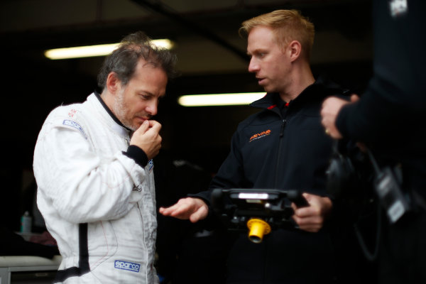 FIA Formula E Test Day, Donington Park, UK. Tuesday 25 August 2015. Jacques Villeneuve (CAN), Venturi VM200-FE-01  Photo: Sam Bloxham/FIA Formula E/LAT ref: Digital Image _SBL1052