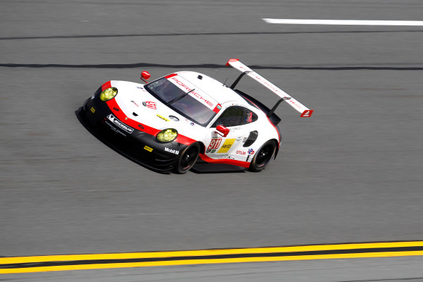 2017 Rolex 24 Hours. Daytona, Florida, USA Thursday 26 January 2017. #911 Porsche Team North America Porsche 911 RSR: Patrick Pilet, Dirk Werner, Fr?d?ric Makowiecki World Copyright: Alexander Trienitz/LAT Images ref: Digital Image 2017-24h-Daytona-AT2-0689