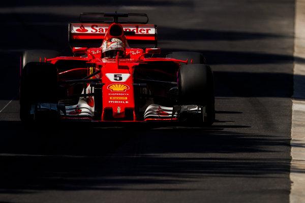 Monte Carlo, Monaco. Saturday 27 May 2017. Sebastian Vettel, Ferrari SF70H. World Copyright: Glenn Dunbar/LAT Images ref: Digital Image _X4I8625