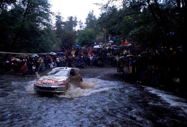 World Rally ChampionshipCyprus Rally, Cyprus. 18th - 21st April 2002. Harri Rovanpera / Risto Pietilainen, Peugeot 206 WRC, 4th position overall. World Copyright: McKlein/LAT Photographicref: 35mm Image A02
