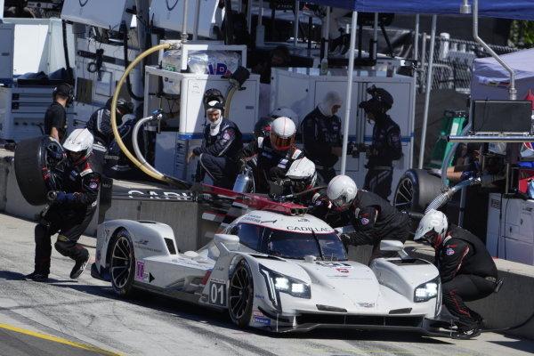 #01: Cadillac Chip Ganassi Racing Cadillac DPi, DPi: Renger van der Zande, Kevin Magnussen, pit stop
