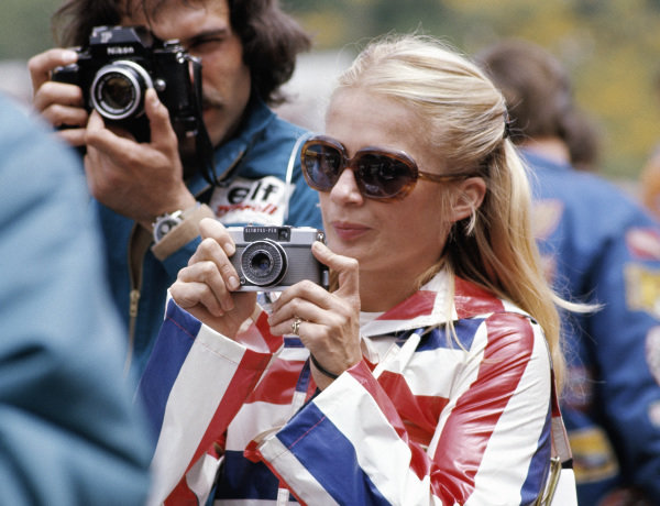 Ex-racing driver and photographer Marie-Claude Beaumont during practice.