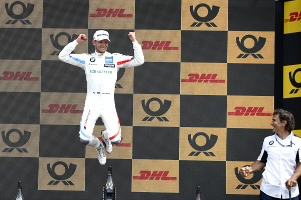 Podium: Race winner Marco Wittmann, BMW Team RMG and Alex Zanardi.
