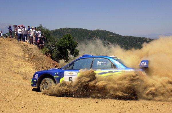 2001 World Rally Championship.Acropolis Rally June 14-17, 2001.Richard Burns on stage 9.Photo: Ralph Hardwick/LAT