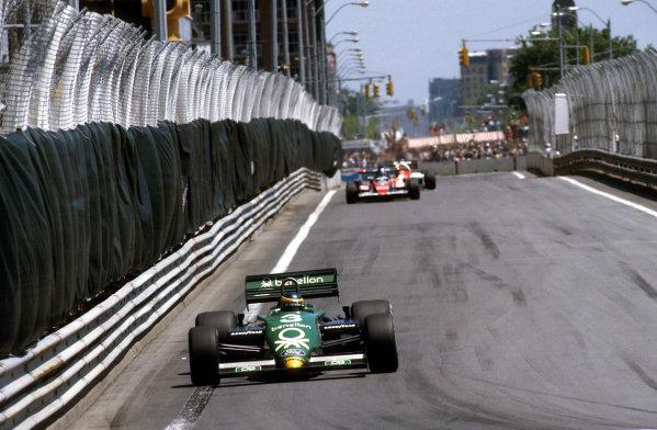 1983 United States Grand Prix East.Detroit, Michigan, USA.3-5 June 1983.Michele Alboreto (Tyrrell 011 Ford) 1st position.Ref-83 USA 10.World Copyright - LAT Photographic