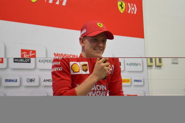 Mick Schumacher, Ferrari in Press Conference