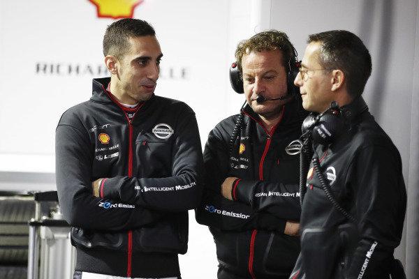 Sébastien Buemi (CHE), Nissan e.Dams, in the garage