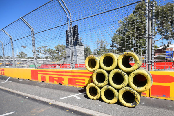 Tyres and fencing.