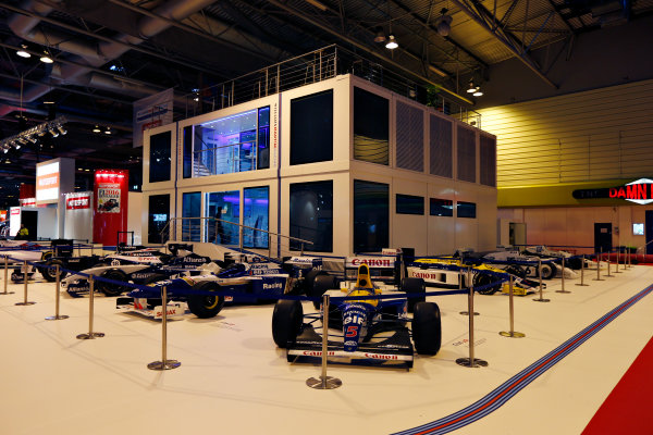 Autosport International Exhibition.  National Exhibition Centre, Birmingham, UK. Thursday 14 January 2016.  The Williams Motorhome in the NEC. World Copyright: Zak Mauger/LAT Photographic. ref: Digital Image _L0U0765