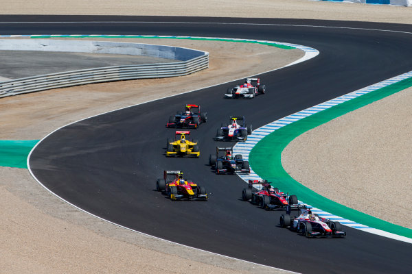 2017 FIA Formula 2 Round 10. Circuito de Jerez, Jerez, Spain. Sunday 8 October 2017. Nabil Jeffri (MAS, Trident).  Photo: Zak Mauger/FIA Formula 2. ref: Digital Image _X0W2702