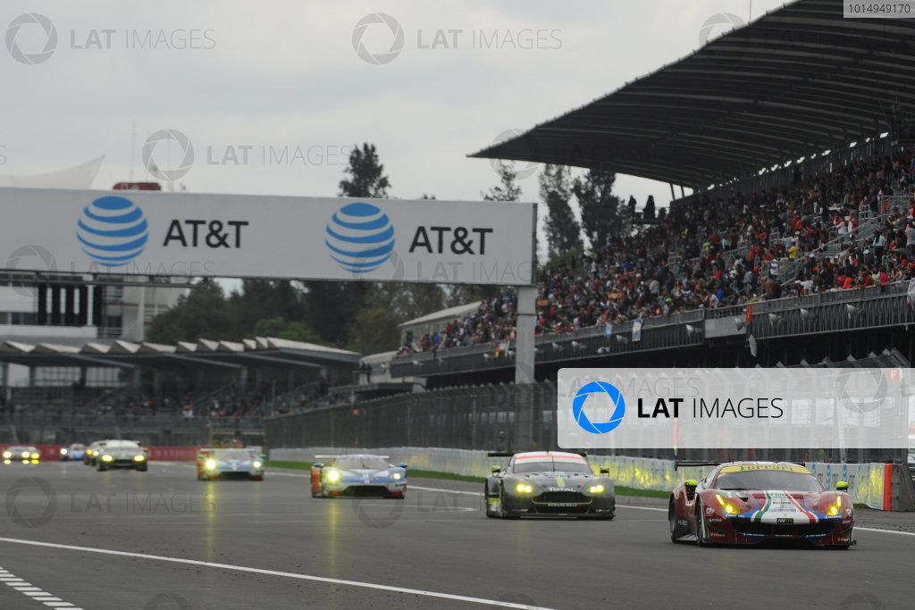 2017 World Endurance Championship, Mexico City, Mexico. 1st-3rd September 2017, #71 AF Corse Ferrari 488 GTE: Davide Rigon, Sam Bird  World copyright. JEP/LAT Images