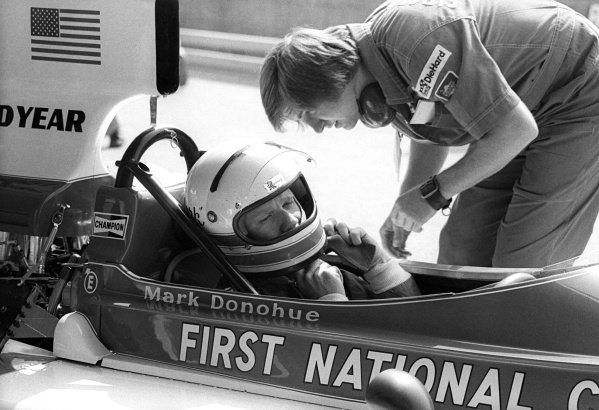 Mark Donohue (USA) Penske Racing Cars March 751, suffered a massive crash following a tyre failure at the Hella Licht Curve during practice. Although initially conscious, Donohue tragically died on the Tuesday following the race with a brain haemorrhage, and a marshal was killed too at the scene of the accident.Austrian Grand Prix, Rd 12, Osterreichring, Austria, 17 August 1975.