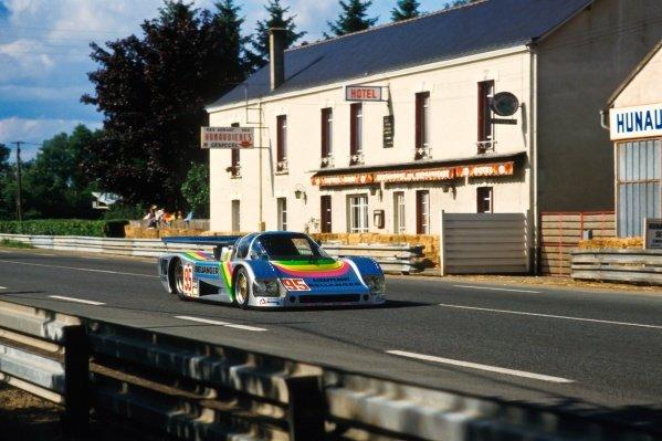 Dominique Lacaud (FRA) / Roland Bassaler (FRA) / Yvan Topy (FRA) Sauber C6 BMW. Le Mans 24 Hours, Le Mans, France, 15 - 16 June 1985.